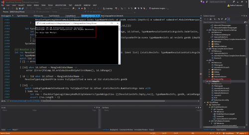 Debug works in Visual Studio
