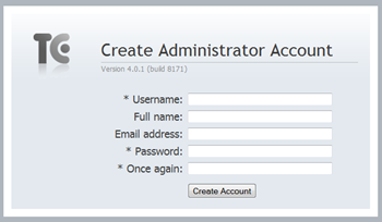 Set up administrator account