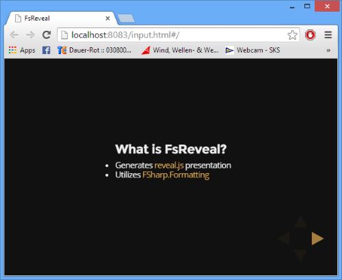 FsReveal slide 1
